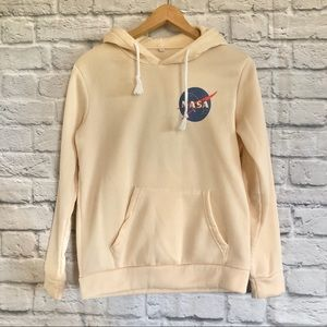 NASA cream Cosy Hoodie